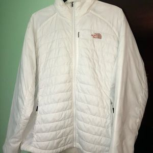 White north face jacket women's size XL